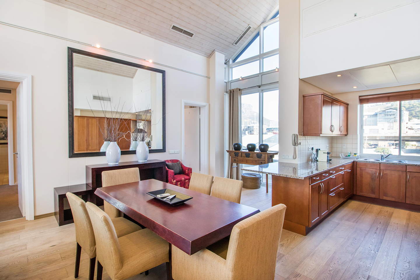 Dining space at Waterfront Village, Waterfront, Cape Town - Citybase Apartments