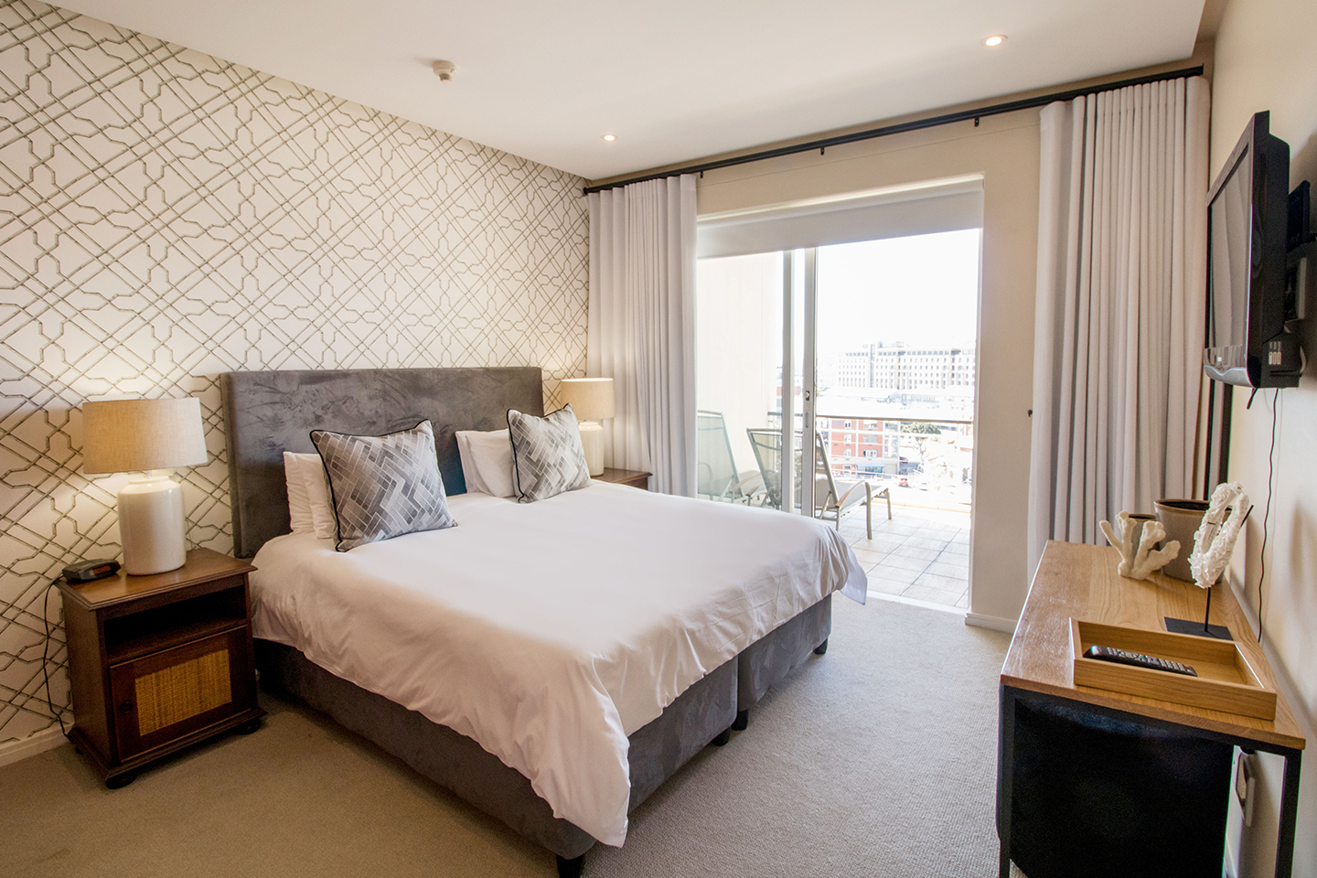 Bedroom area at Waterfront Village, Waterfront, Cape Town - Citybase Apartments