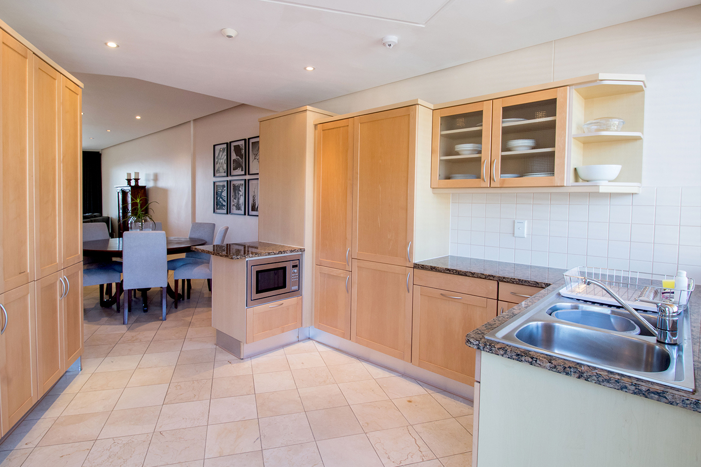 Kitchen area in Waterfront Village, Waterfront, Cape Town - Citybase Apartments