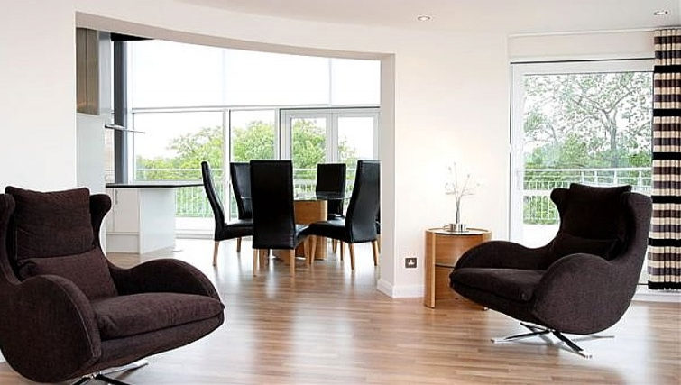 Crisp living area at Kepplestone Manor - Citybase Apartments