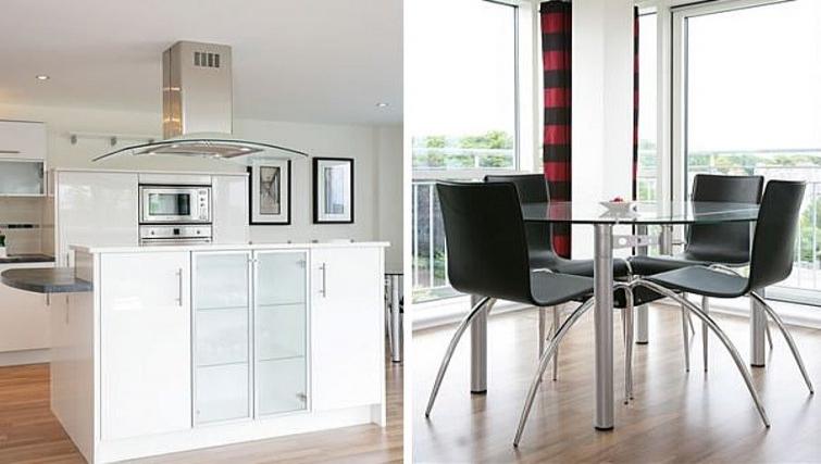 Bright kitchen at Kepplestone Manor - Citybase Apartments