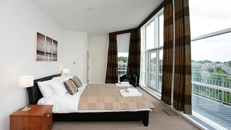 Spectacular views from the bedroom at Kepplestone Manor - Citybase Apartments