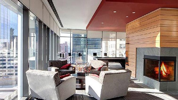 Lounge in 200 Squared - Citybase Apartments