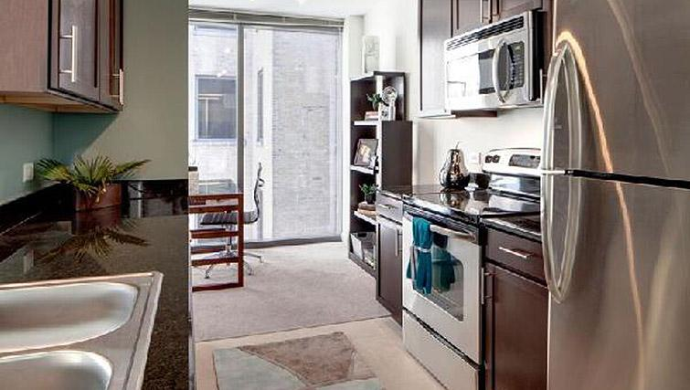 Kitchen at 200 Squared - Citybase Apartments