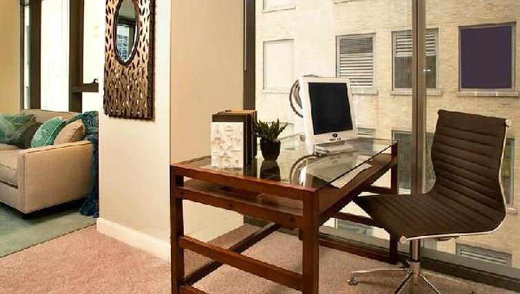 Stylish study area in 200 Squared - Citybase Apartments