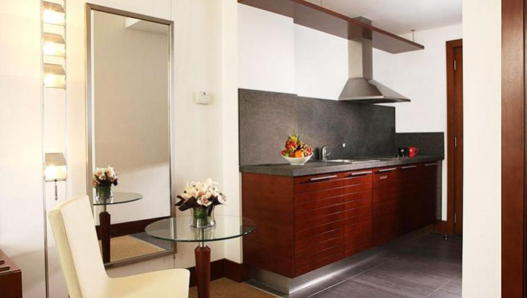 Sophisticated kitchen at Villa Rotana Suites - Citybase Apartments