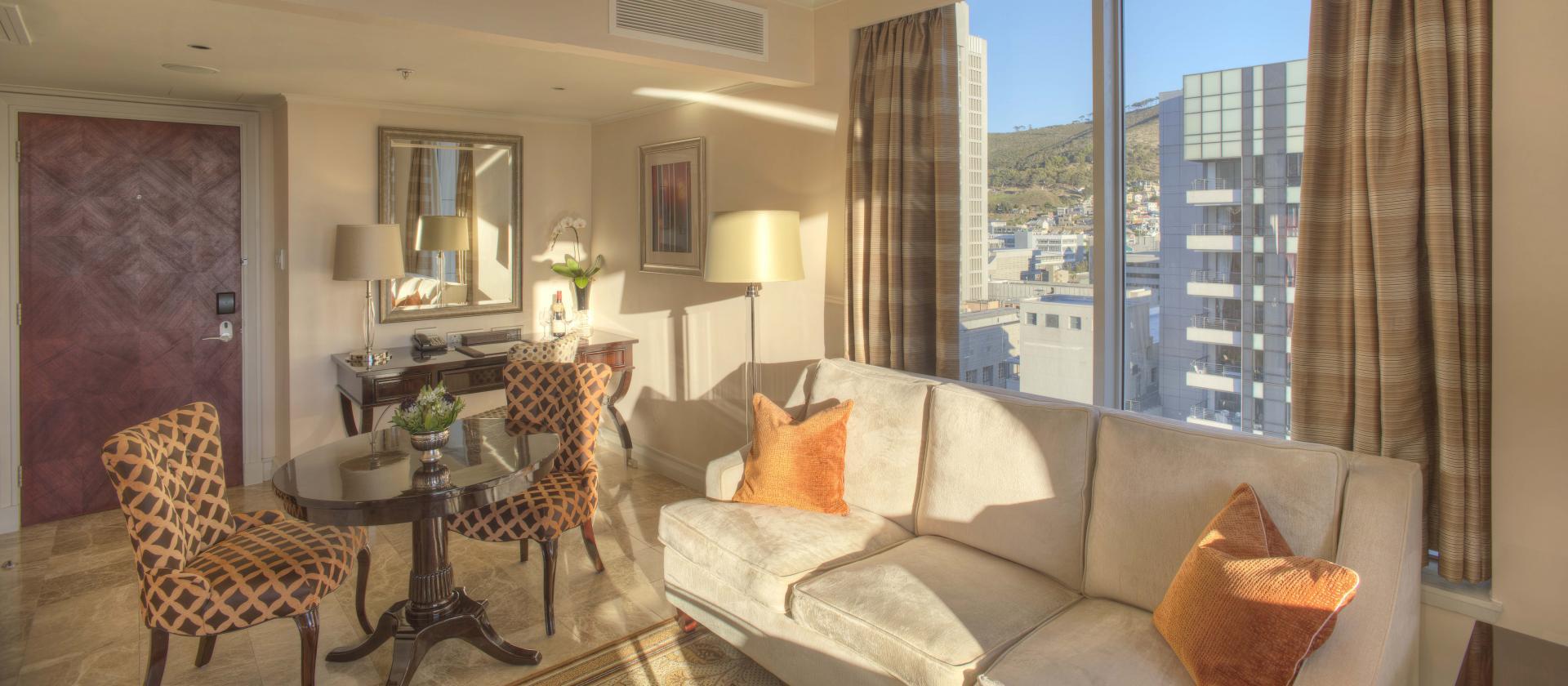 Lounge Area at Taj Cape Town, Centre, Cape Town - Citybase Apartments