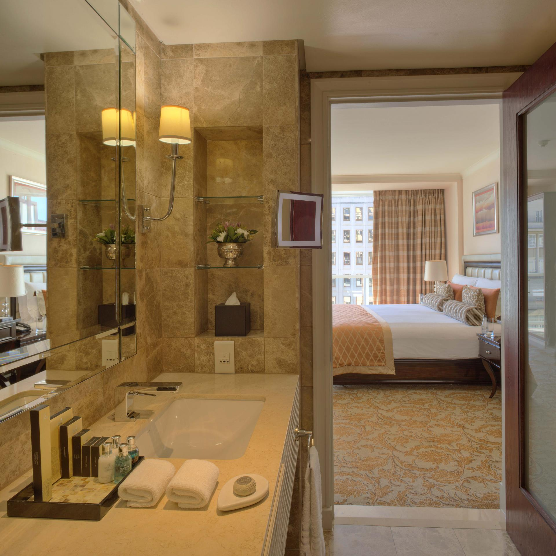 Ensuite Bathroom at Taj Cape Town, Centre, Cape Town - Citybase Apartments