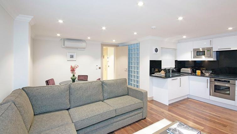 Comfortable living area at Claverley Court Apartments - Citybase Apartments