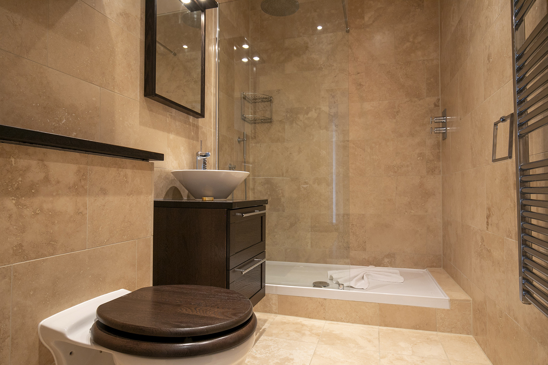 Shower at Wallis Square Apartments, Centre, Farnborough - Citybase Apartments