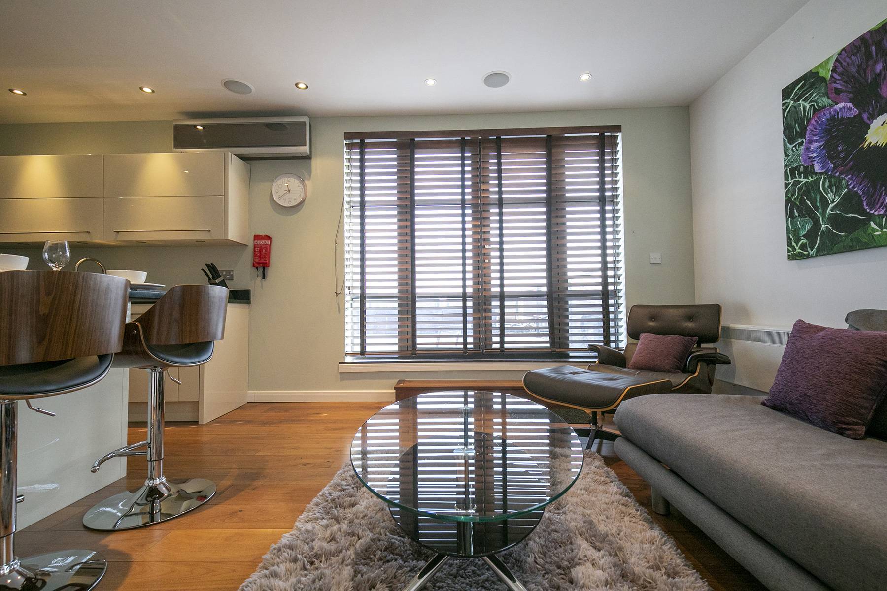 Living room at Wallis Square Apartments, Centre, Farnborough - Citybase Apartments
