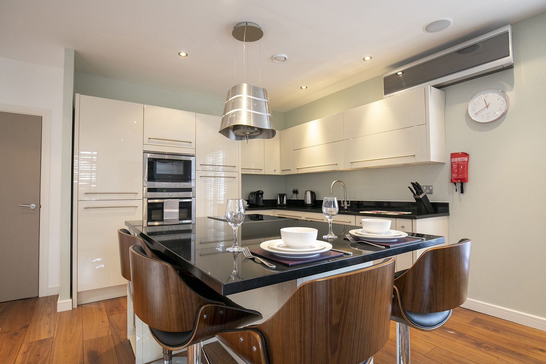 Kitchen at Wallis Square Apartments, Centre, Farnborough - Citybase Apartments