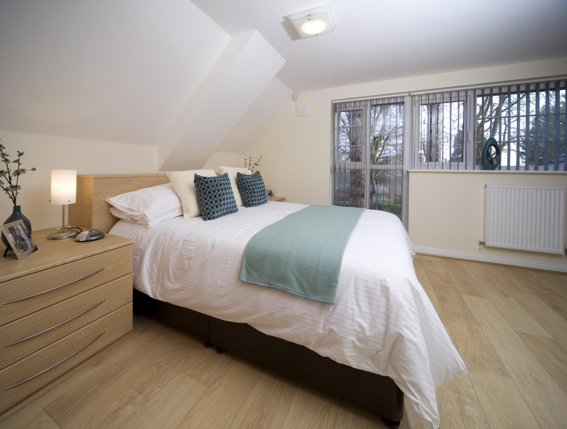 Spacious bed at Cliddesden Place Apartments - Citybase Apartments