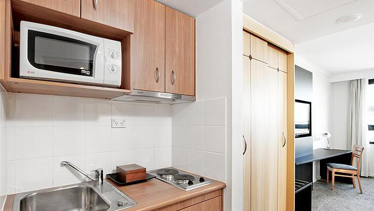 Basic kitchenette at Mantra Parramatta - Citybase Apartments