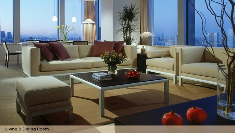 Outstanding living area in Oakwood Residence Roppongi T-Cube Tokyo - Citybase Apartments