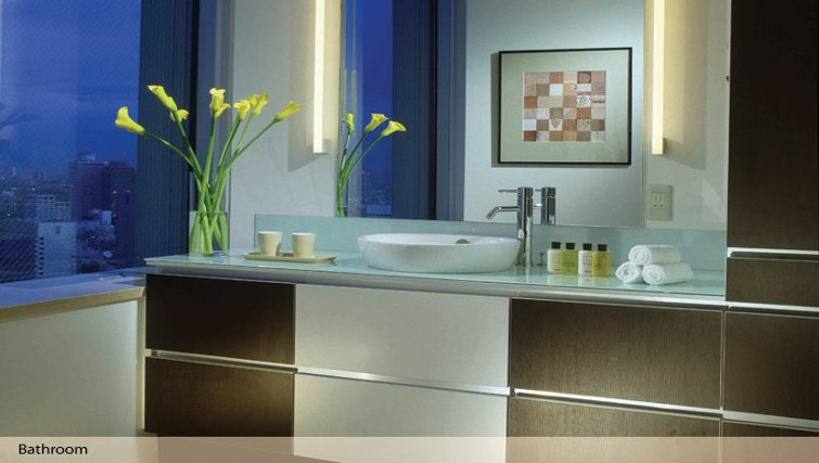 Beautiful bathroom in Oakwood Residence Roppongi T-Cube Tokyo - Citybase Apartments