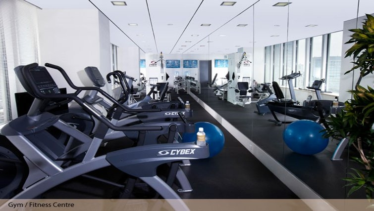 Magnificent gym at Oakwood Residence Roppongi T-Cube Tokyo - Citybase Apartments