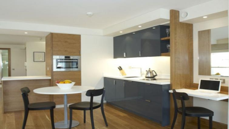 Compact dining area in Turnmill Street Apartments - Citybase Apartments