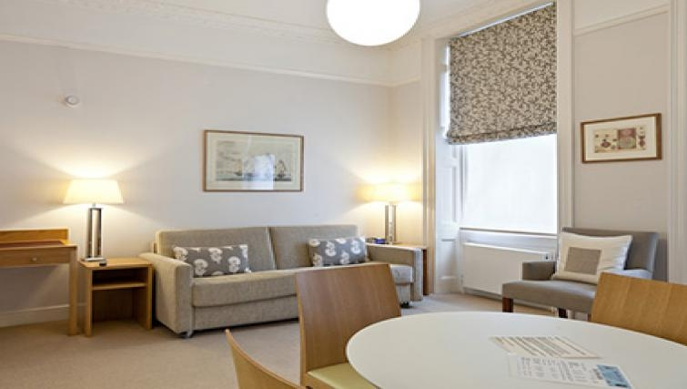 Modern living area in Doughty Street - Citybase Apartments