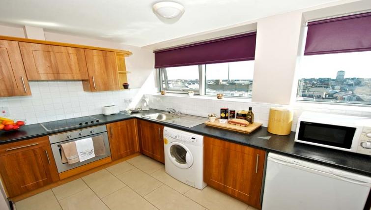 Tasteful kitchen in Staycity Dublin Millennium Walk - Citybase Apartments