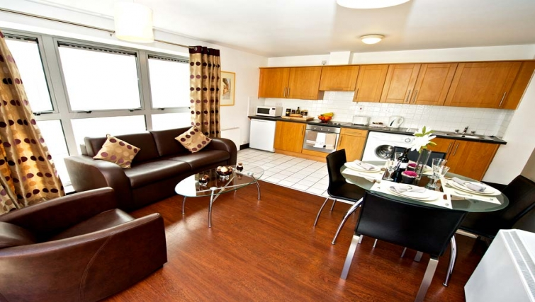 Outstanding living area in Staycity Dublin Millennium Walk - Citybase Apartments