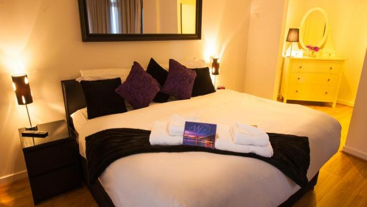 Bed at Westport Luxury Serviced Apartments - Citybase Apartments