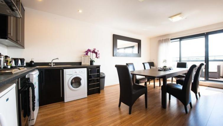 Kitchen in 2 bed at Westport Luxury Serviced Apartments - Citybase Apartments
