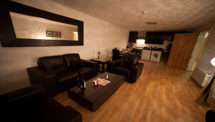 Living area at Westport Luxury Serviced Apartments - Citybase Apartments
