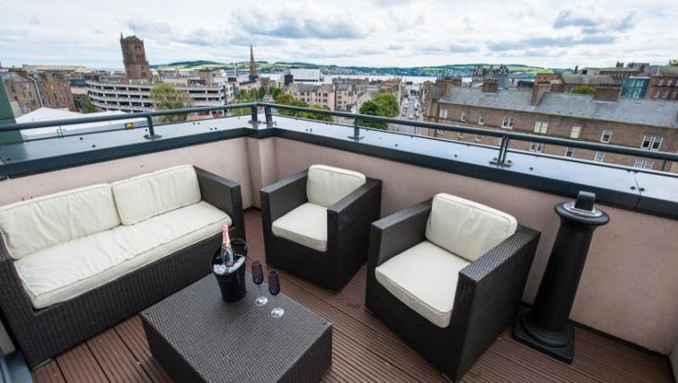 Balcony at Westport Luxury Serviced Apartments - Citybase Apartments