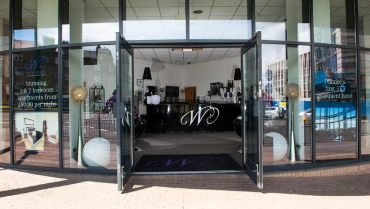 Entrance at Westport Luxury Serviced Apartments - Citybase Apartments