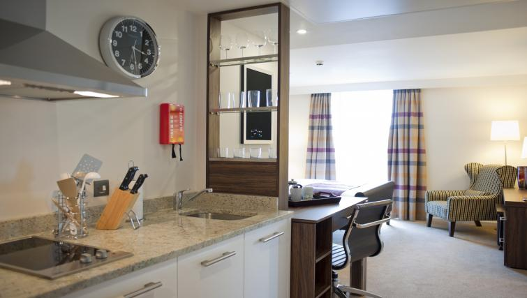 Kitchen at Staybridge Suites London Stratford City - Citybase Apartments