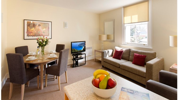 Living area in SACO Cardiff - Citybase Apartments