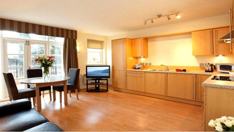 Living area at SACO Cardiff - Citybase Apartments