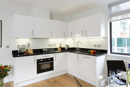 Kitchen facilities at SACO St Pauls - Red Lion Court - Citybase Apartments