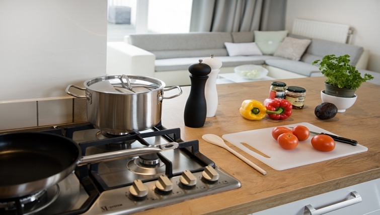 Fully equipped kitchen at Rooftop Suites - Citybase Apartments