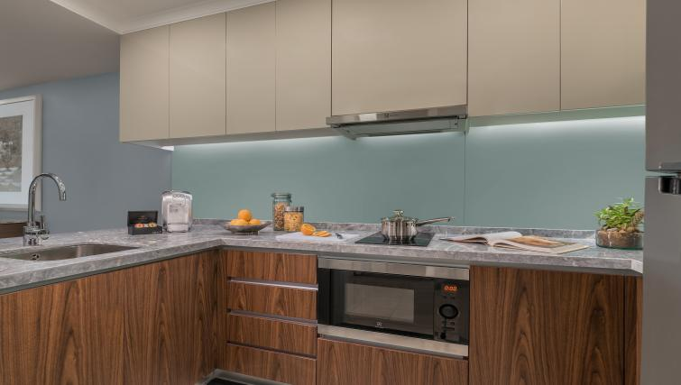 Equipped kitchen at Ascott Makati Apartments - Citybase Apartments