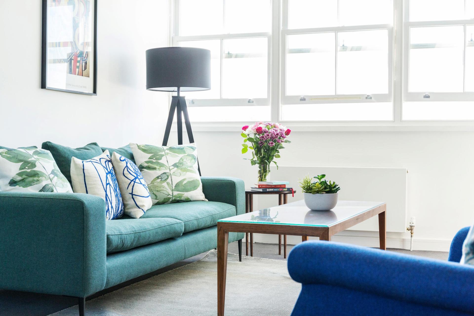 Living area at Native Hyde Park Apartments, Hyde Park, London - Citybase Apartments