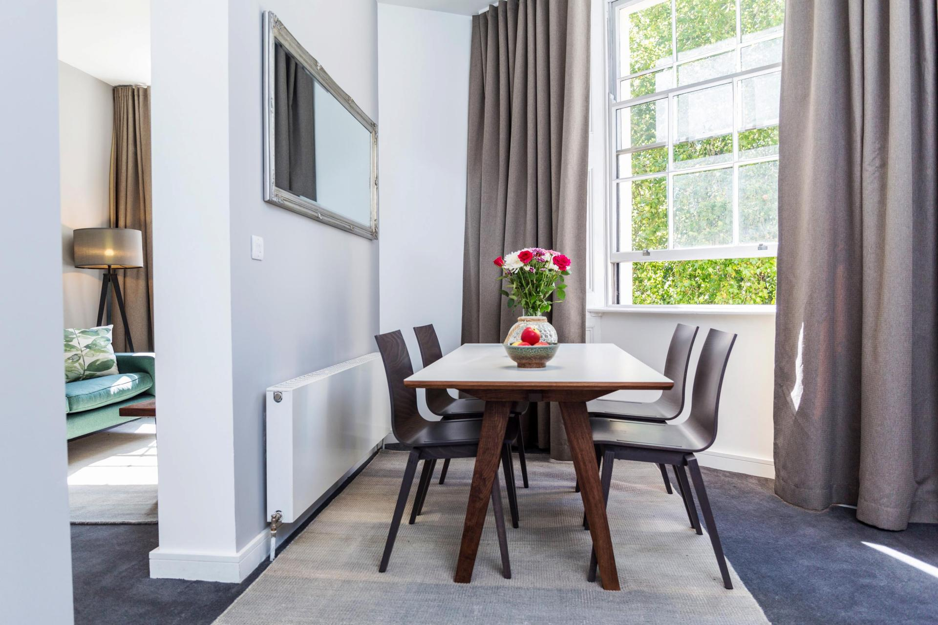 Dining area at Native Hyde Park Apartments, Hyde Park, London - Citybase Apartments