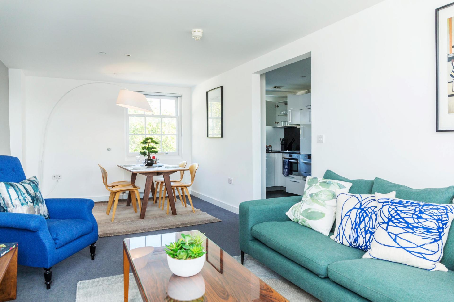 Open-plan at Native Hyde Park Apartments, Hyde Park, London - Citybase Apartments