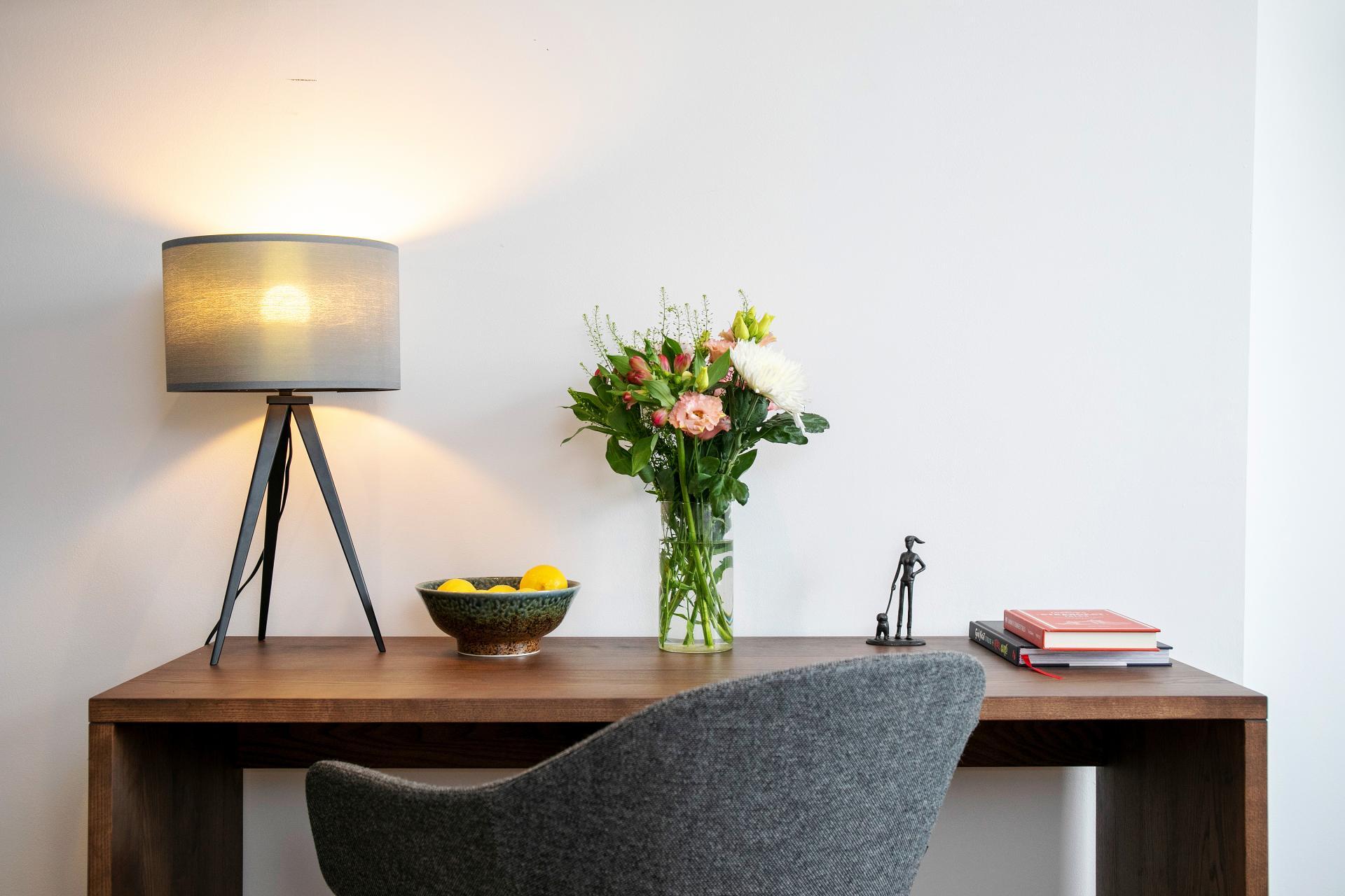 Work desk at Native Hyde Park Apartments, Hyde Park, London - Citybase Apartments