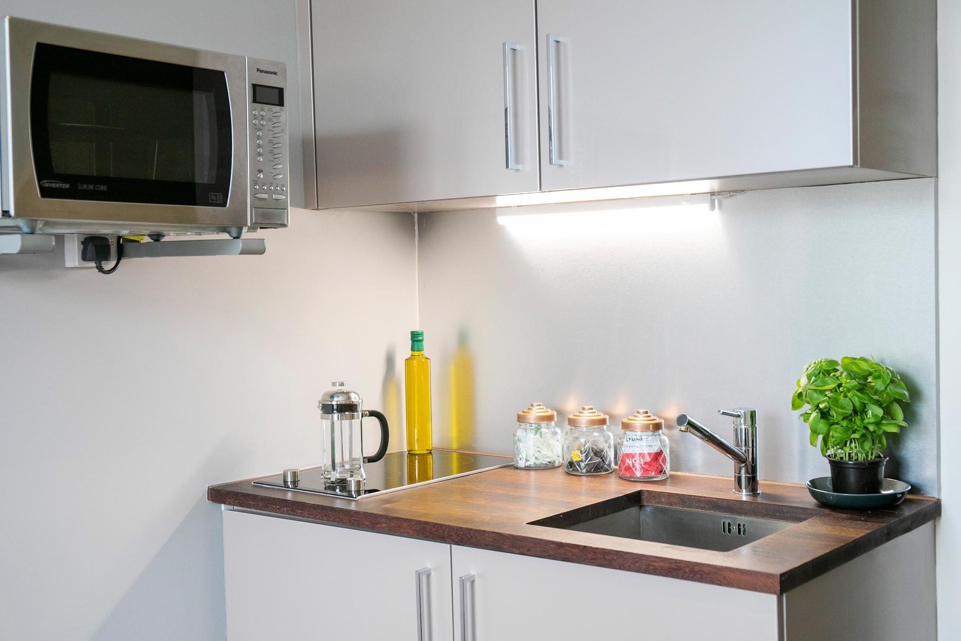 Kitchen at Native Hyde Park Apartments, Hyde Park, London - Citybase Apartments