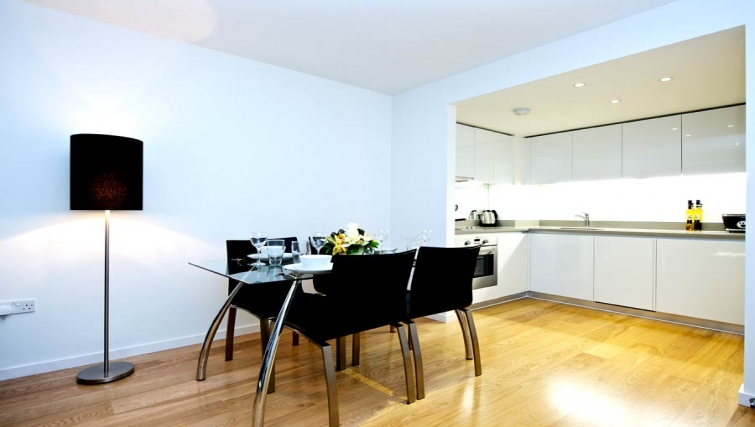 Open plan kitchen in Staycity London Heathrow - Citybase Apartments