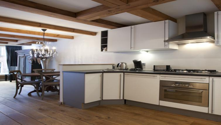 Fully equipped kitchen at Stephan Apartments, Amsterdam - Citybase Apartments