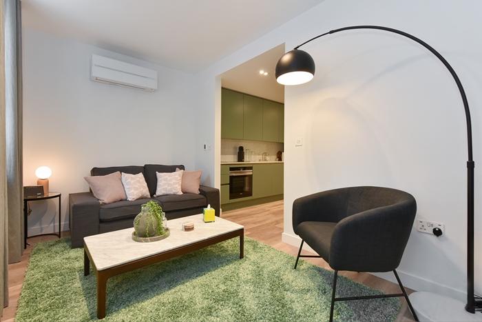 Sofa at 42 James Street Apartments, Marylebone, London - Citybase Apartments