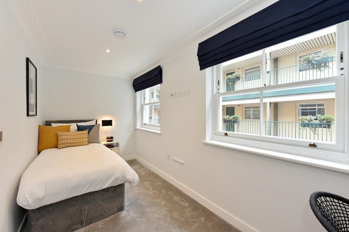 Bright bedroom at 42 James Street Apartments, Marylebone, London - Citybase Apartments