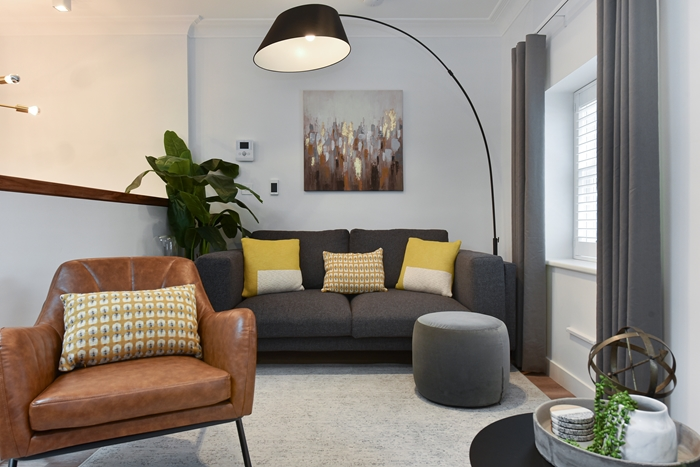 Living area at 42 James Street Apartments, Marylebone, London - Citybase Apartments
