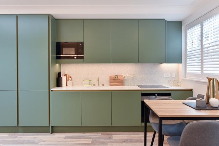 Kitchen at 42 James Street Apartments, Marylebone, London - Citybase Apartments