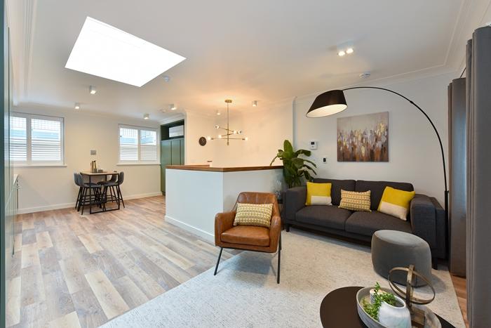 Spacious living area at 42 James Street Apartments, Marylebone, London - Citybase Apartments