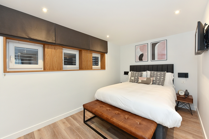 Stylish bedroom at 42 James Street Apartments, Marylebone, London - Citybase Apartments