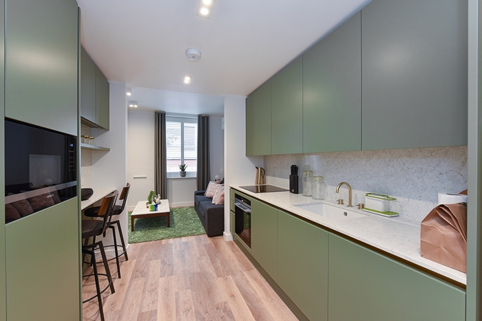 Fully equipped kitchen at 42 James Street Apartments, Marylebone, London - Citybase Apartments